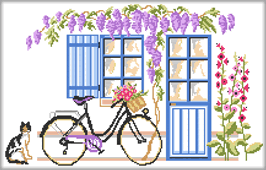 Broderie bicyclette