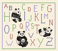 Kit point de croix - ABC les Pandas